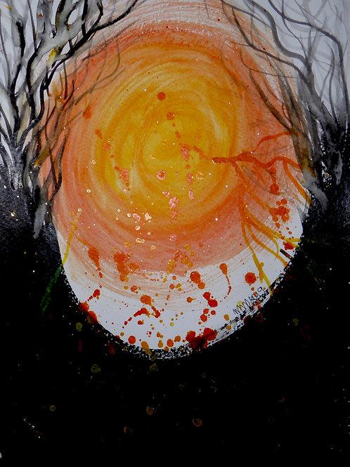 Light  by Mona Moon Art Print abstract Original watercolou