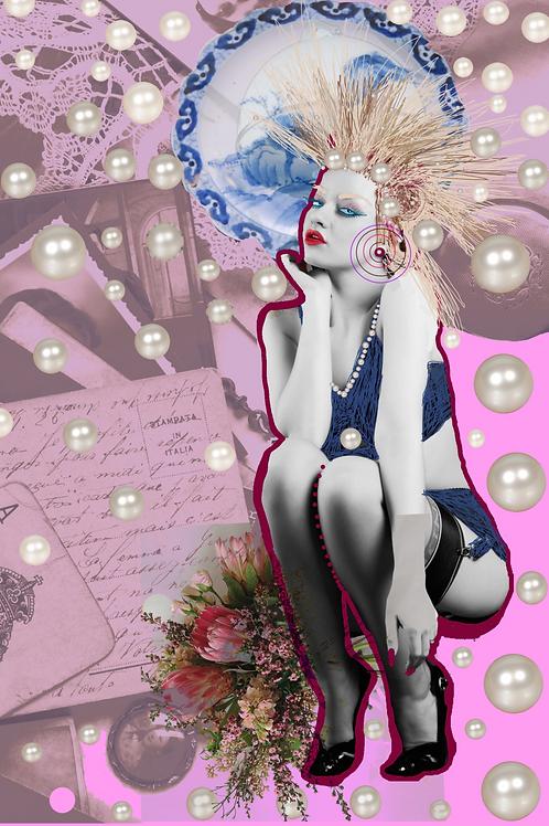 Pearl Girl  by Mona Moon Art Print figurative Original digital art