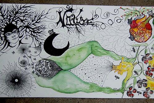 Nature by Mona Moon Art Print abstract Original watercolour