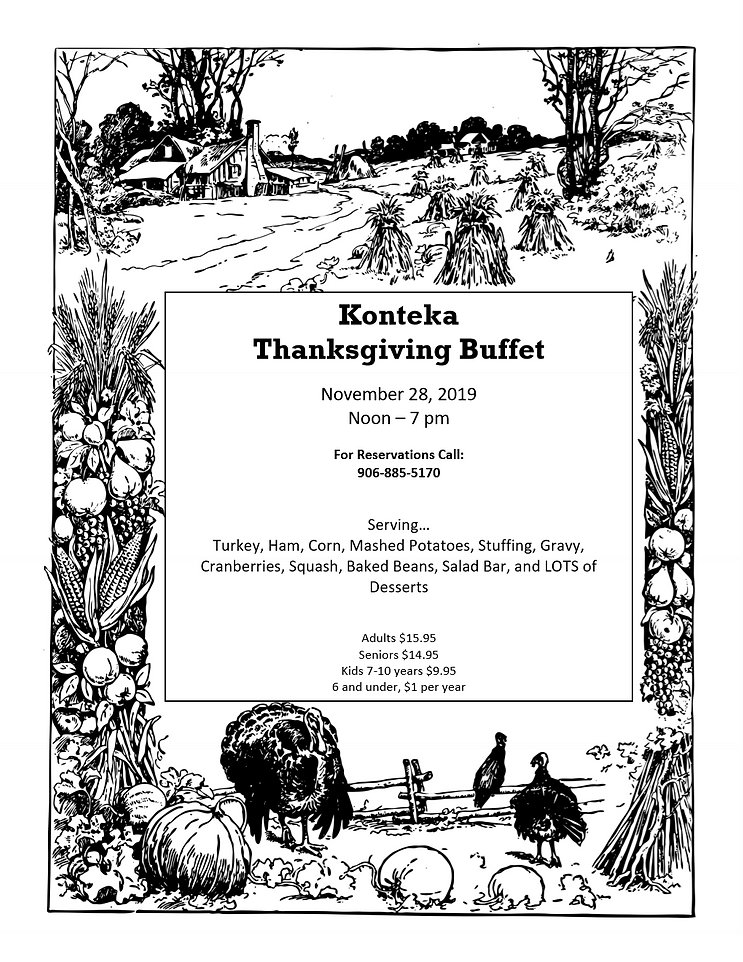 Konteka Thanksgiving Menu 2019