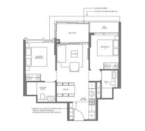 2 bedrooms unit in Meyer mansion