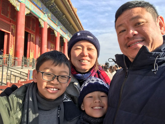 Family Photo in front of Forbidden City