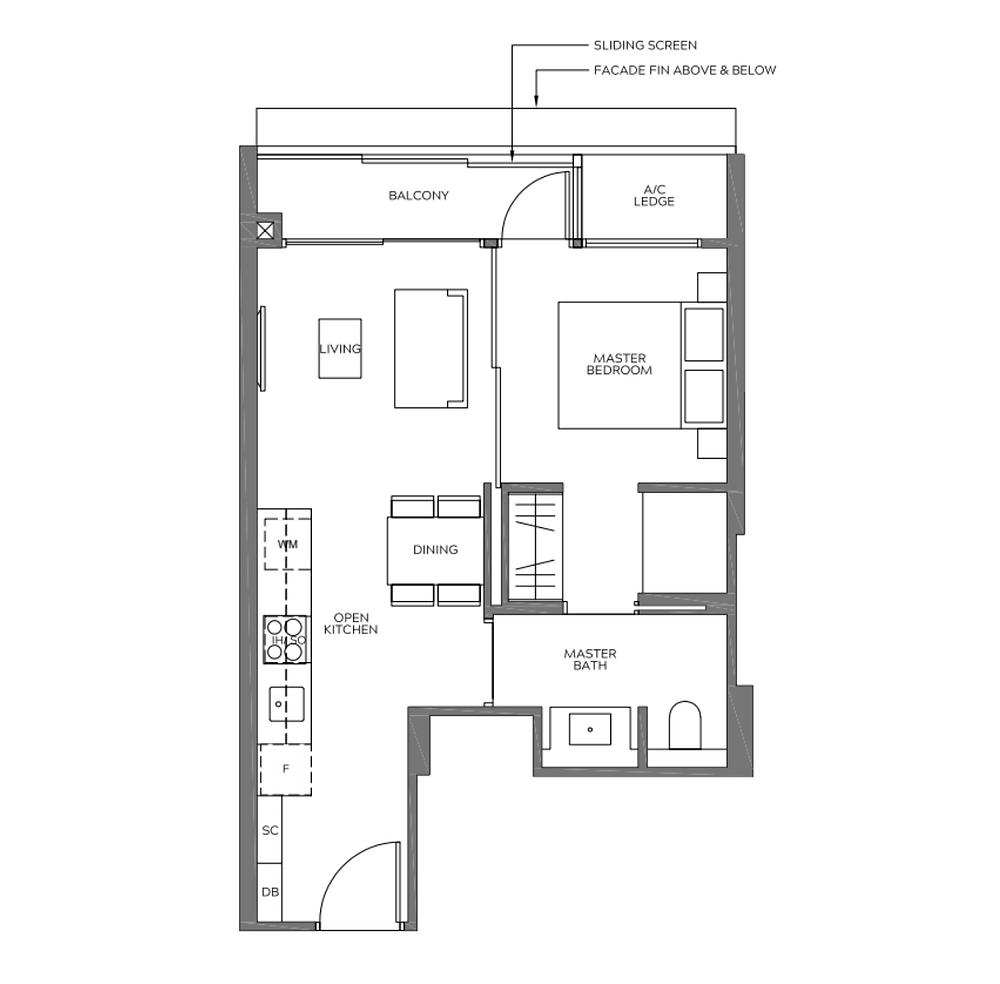 1 bedroom units in meyer road
