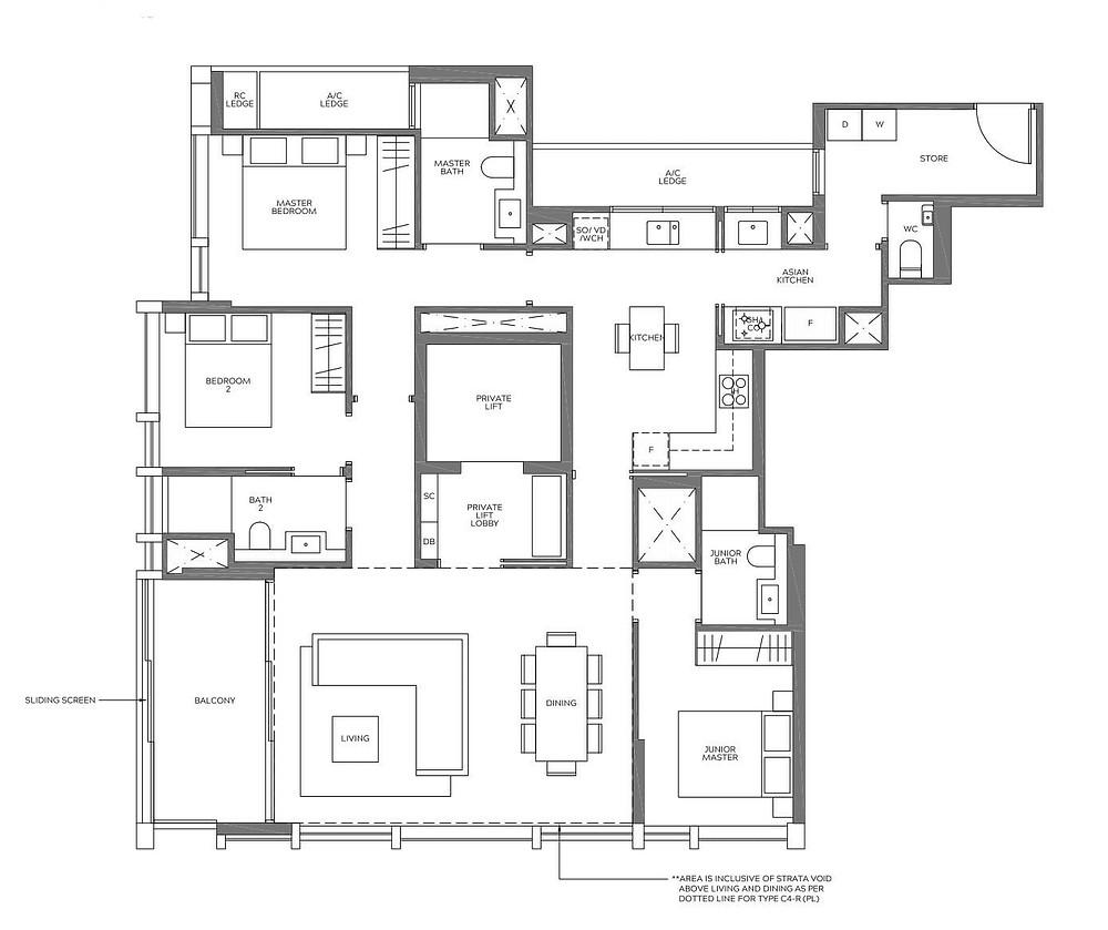 Meyer Mansion 3 bedroom type
