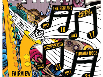 Concerts in the Park - FREE concert every Tuesday in July in Fairview Park