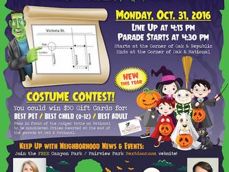 27th Annual Neighborhood Halloween Parade