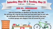 Neighborhood Garage Sale - May 20 & 21