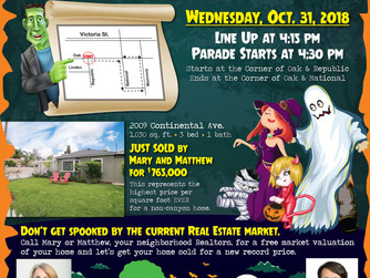 2018 Halloween Parade - the 29th annual!