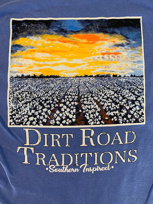 #1071 Adult Short Sleeve Cotton Field/Sunset