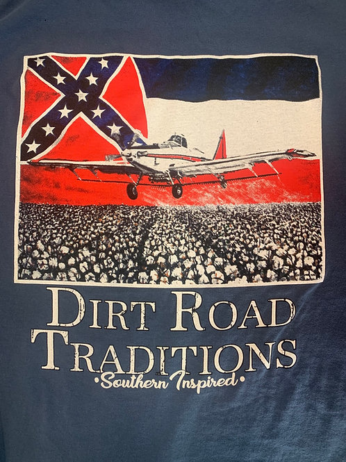 #1070 Adult short sleeve Crop Duster/Flag