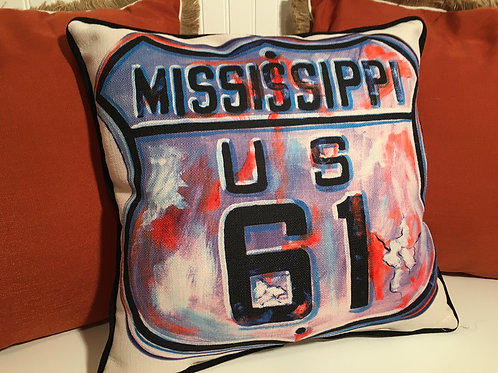 #4017 Pillow/Hwy.61 Sign