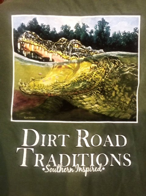 #1040 Adult Short Sleeve Green Gator