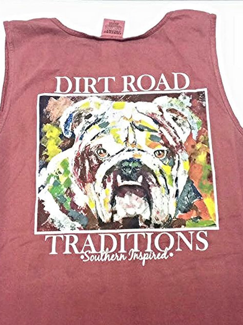 #1008 Adult Tank Top Maroon Bulldog