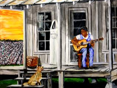 #3011 Blues Guy on Porch