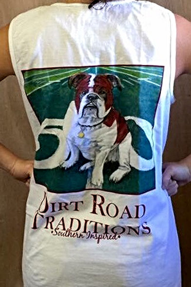 #1016 Adult Tank Top Bulldog White