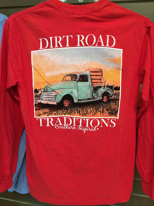 #2014 Youth Long Sleeve Red Truck