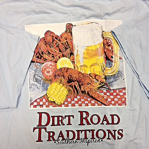 #1013 Adult Short Sleeve Crawfish/Beer Blue