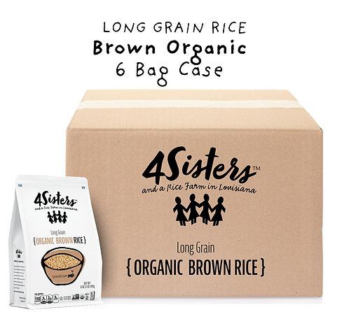 6 - 2 lb. Bags / Organic Brown.