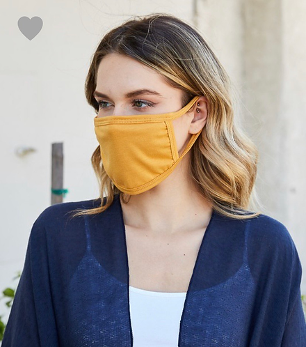 Face Mask (mustard)