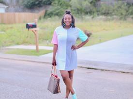 Color Block T-Shirt Dress
