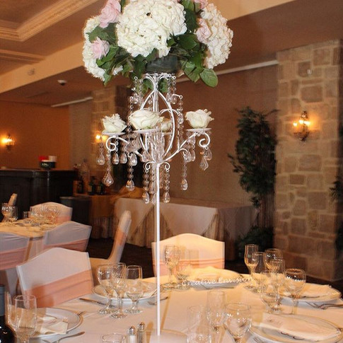 Our candelabra on display