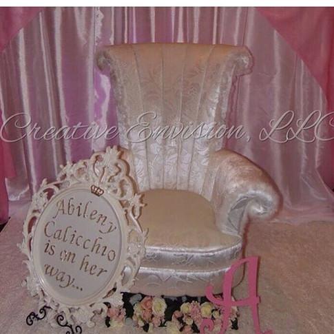 White high back chair