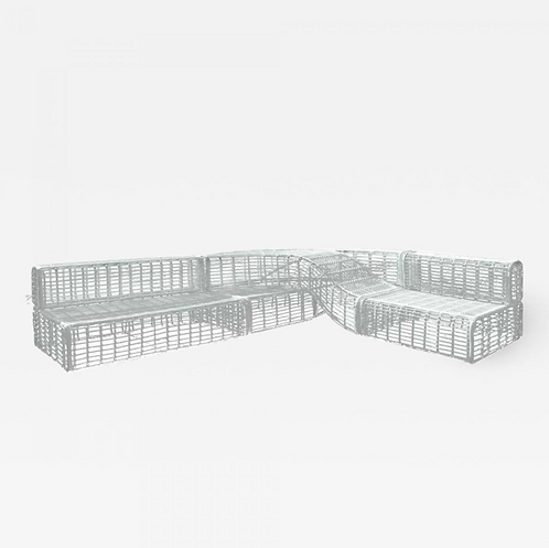 Modular Contemporary Outdoor Wicker Sofa Lounger with Integrated Daybed