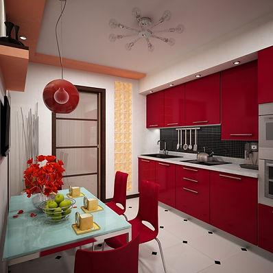Кухня-в-двухкомнатной-квартире-в-контрас