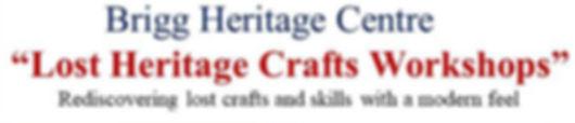 Lost Heritage Crafts Workshops Poster (4