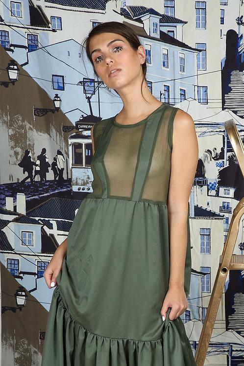 Third floor Suspenders Dress, Green