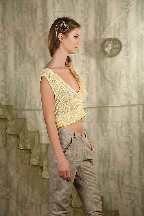 Knitted Top, Yellow
