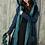 Thumbnail: Reversible Wet Turquoise Coat