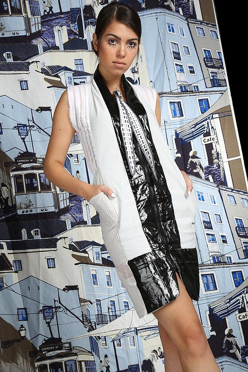 Collar suspenders monochrome Dress