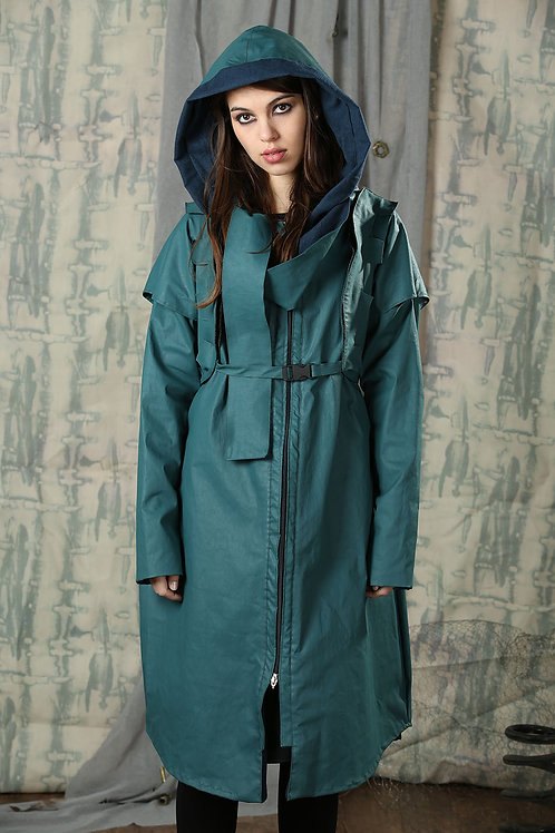Reversible Wet Turquoise Coat