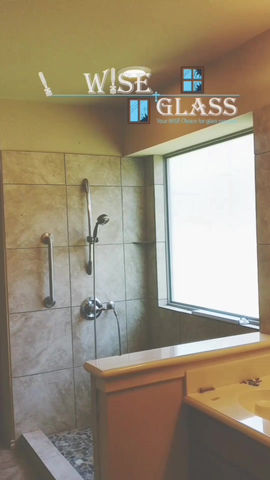 BATHROOM SHOWER DOOR GLASS REMODEL