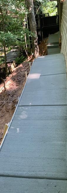 Retaining Wall and walkway