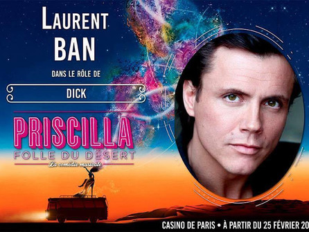 Laurent Bàn on the poster of the latest Parisian musical…