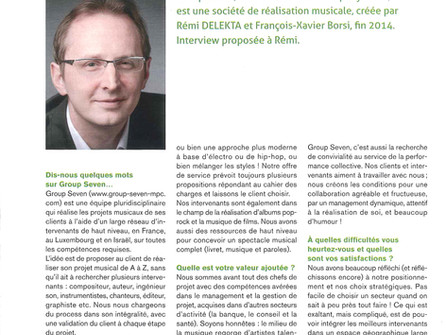 Everything for music – interview with Rémi Delekta in 'ESCP Europe' magazine.