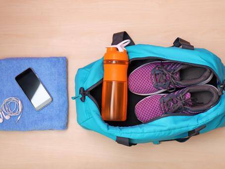 Você leva tudo o que é necessário para academia?