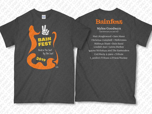 Bainfest T-Shirts on Sale Now!