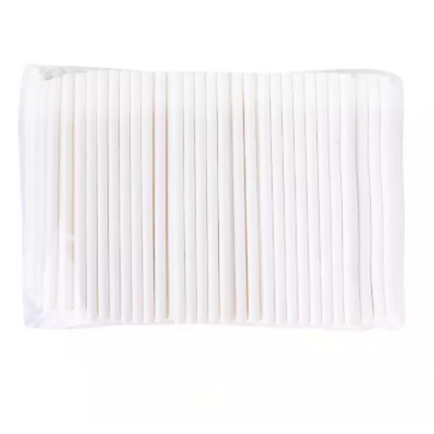 Paper Cocktail Straws (Solid White)