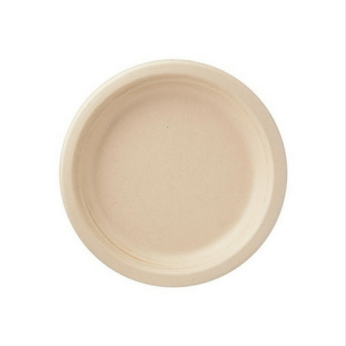 9inch Wheat Straw Microwavable Paper Plates White ... |Wheat Paper Plates