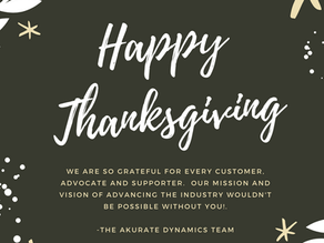 Happy Thanksgiving from Akurate Dynamics