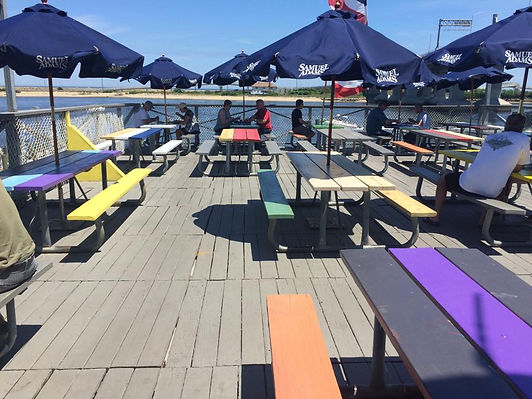 Mobys Deck Sandy Hook seafood waterfront restaurant