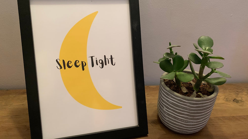Moon Sleep Tight Print