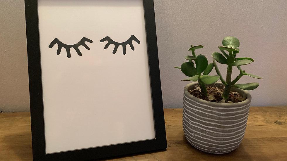 Eyelashes Print