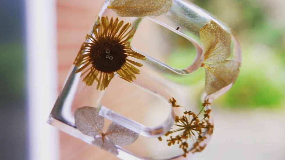 Letter Flower - Silver Chain