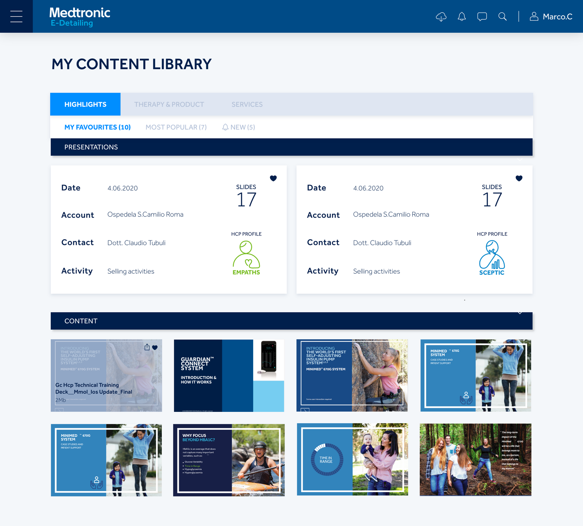 My Content Library