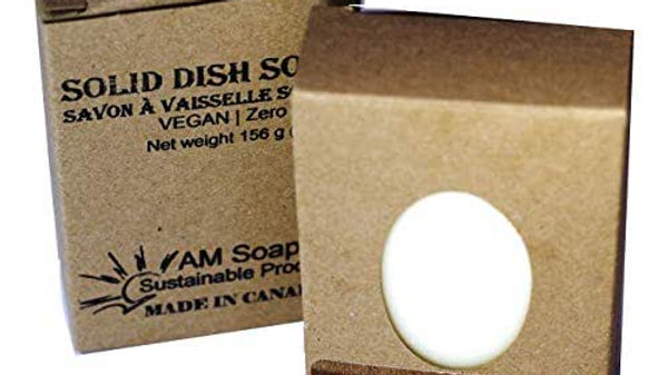 AM Soaps Solid  Vegan Dish Soap