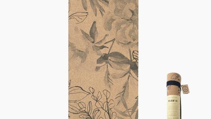 Scoria Blossom Cork Yoga Mat 4.5mm